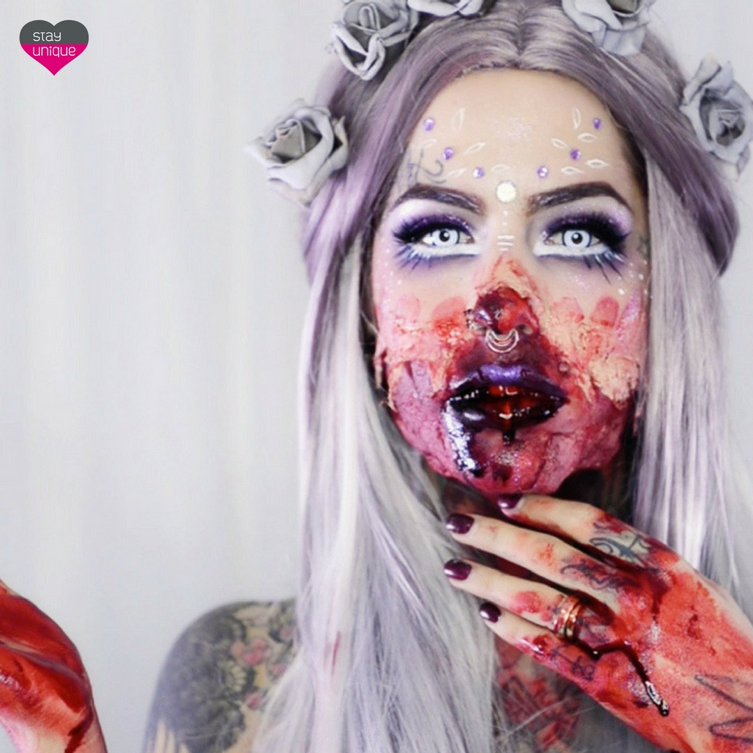HALLOWEEN Beautiful Zombie | ADRIANA LOJ & StayUnique.sk