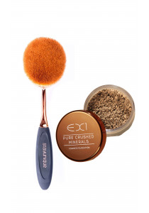 EX1 COMBO PERFECT SKIN VII. Mineral Makeup + Oval Brush