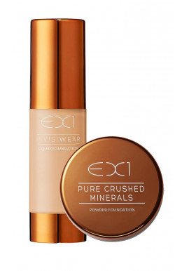 EX1 Invisiwear Liquid Foundation + Pure Crushed Mineral Foundation