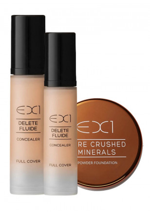 EX1 Delete Fluid Concealer Duo + Pure Crushed Mineral Foundation