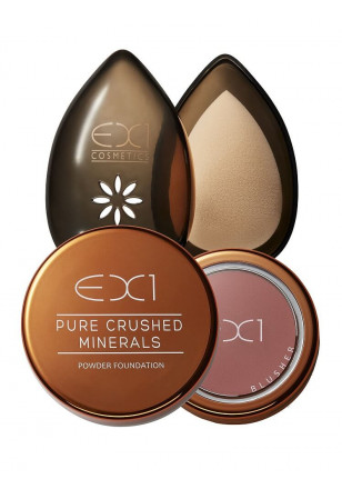 EX1 Pure Crushed Mineral Foundation + Beauty Egg + Blusher