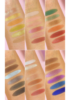 Makeup Revolution X Petra XOXO Eyeshadow Palette swatches