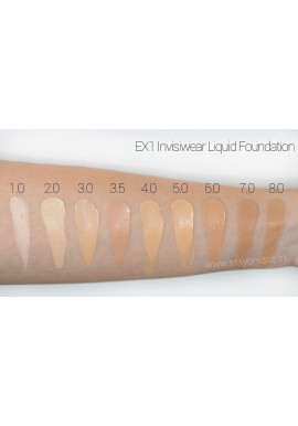 EX1 Invisiwear Liquid Foundation Swatch