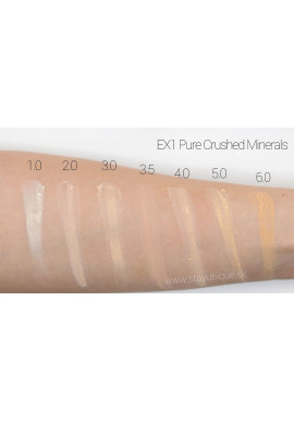 EX1 Pure Crushed Mineral Foundation Swatches