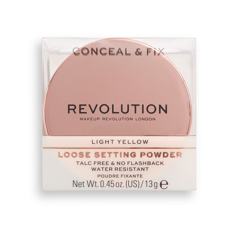Makeup Revolution Conceal & Fix Setting Powder 13g-LIGHT YELLOW