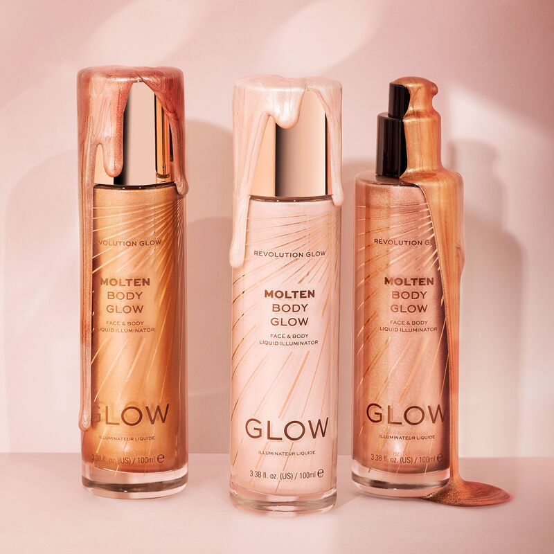 Makeup Revolution Glow Molten Gold Body Liquid Illuminator 100ml