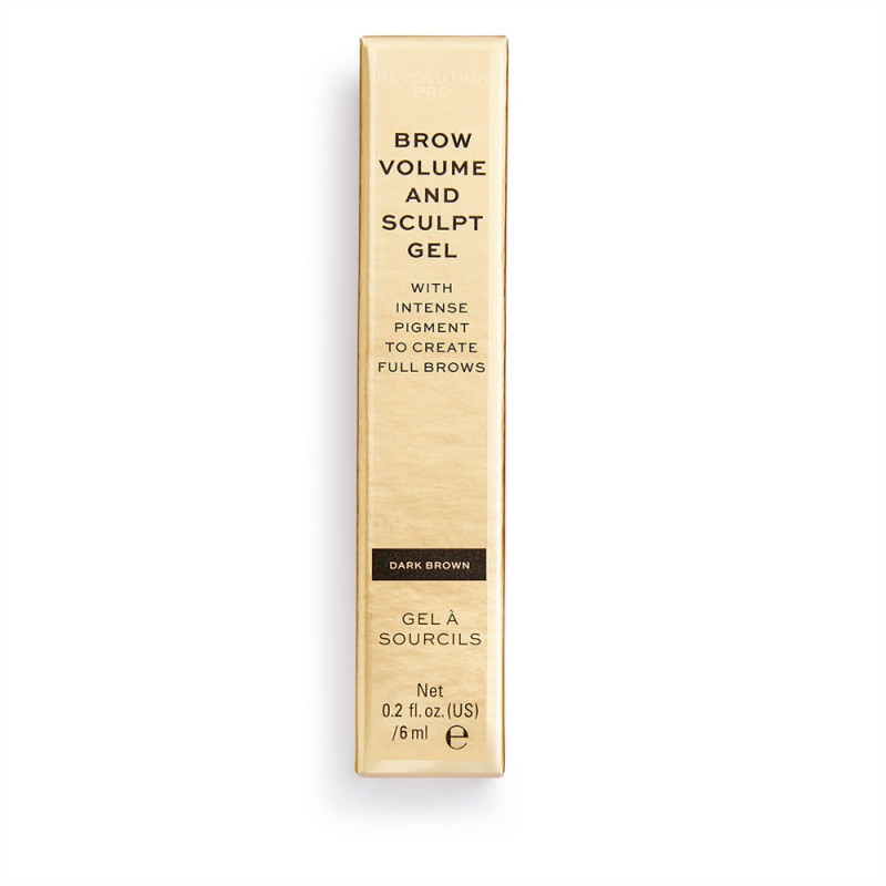 Revolution Pro Brow Volume and Sculpt Gel 6ml-DARK BROWN