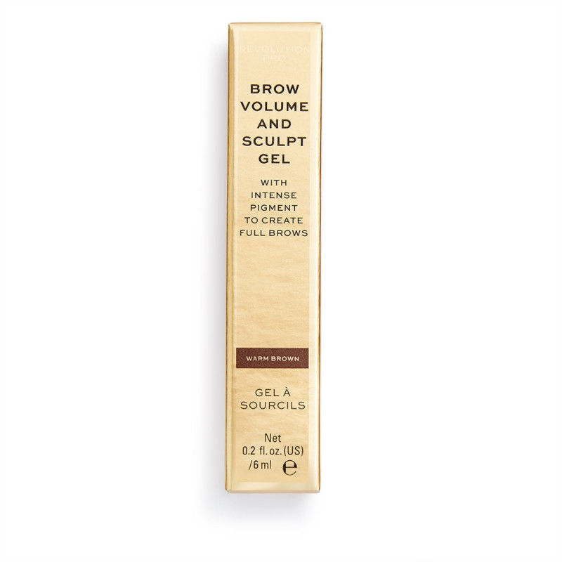 Revolution Pro Brow Volume and Sculpt Gel 6ml-WARM BROWN