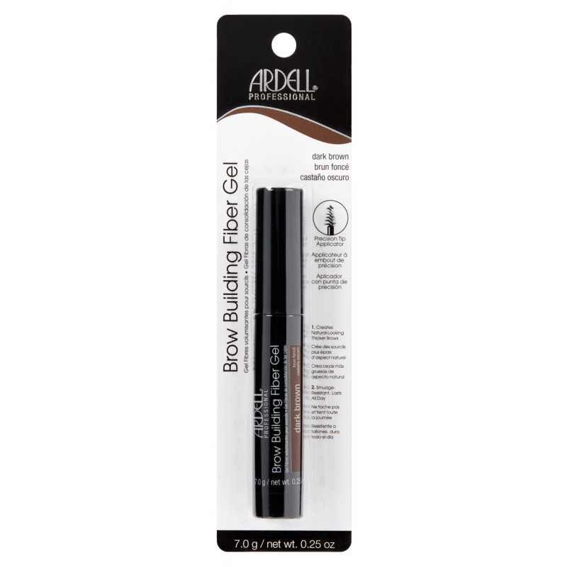 ARDELL Brow Building Fiber Gel-DARK BROWN
