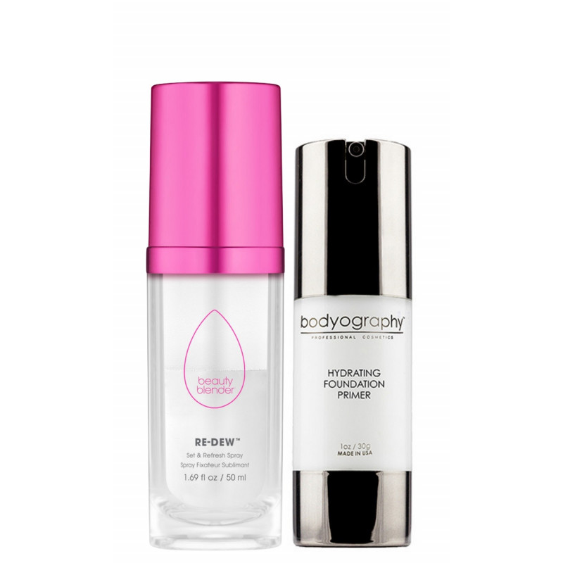 Combo Bodyography Hydrating Primer + Beauty Blender Re-Dew Spray