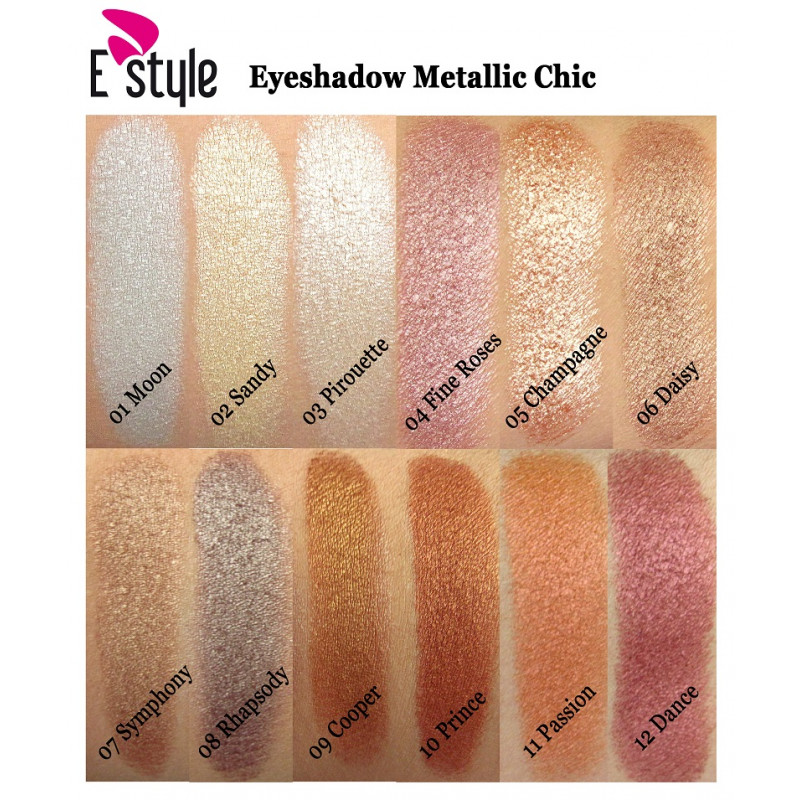 E Style EYESHADOW METALLIC CHIC-12 DANCE
